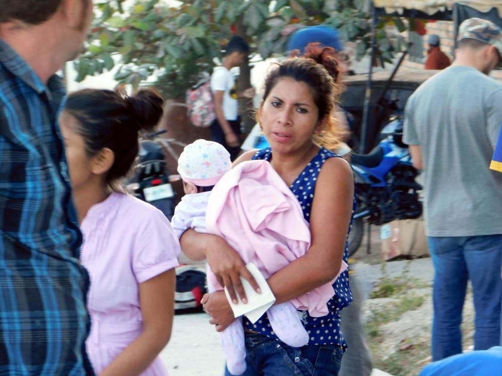 """""""Los peligros que se viven dentro de la caravana también deben ser denunciados"""", dijo una de las defensoras de derechos humanos que acompañó parte del trayecto de la caravana en Honduras."""