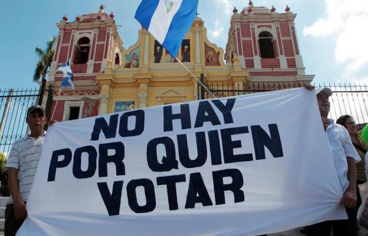 Marcha de 2016 contra el llamado Circo Electoral en Nicaragua - Fotografía cortesía