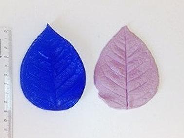 Молд и ответная силиконовая часть листа розы