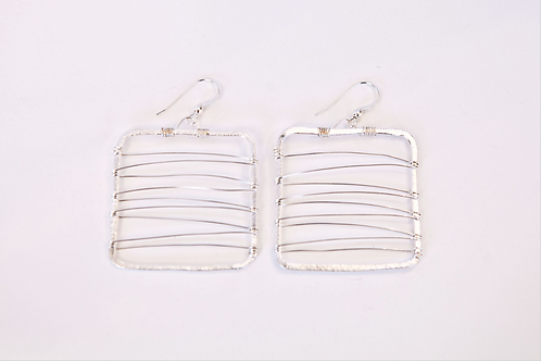 Piazza S Earring (Sterling Silver)