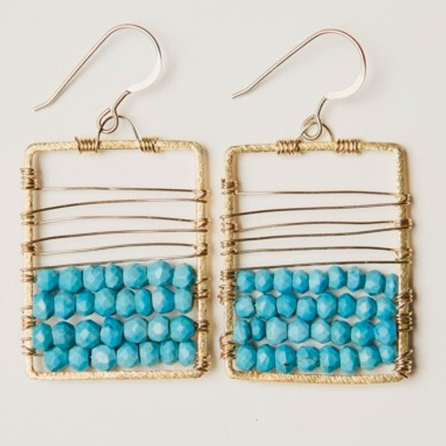 Mini Stellar Earring with Vermeil and Turquoise