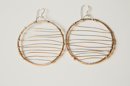 Melanie Earring with Gold and Vermeil
