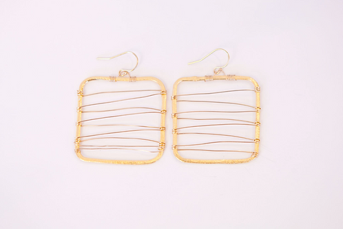 Piazza G Earring (Vermeil and Gold Plated)