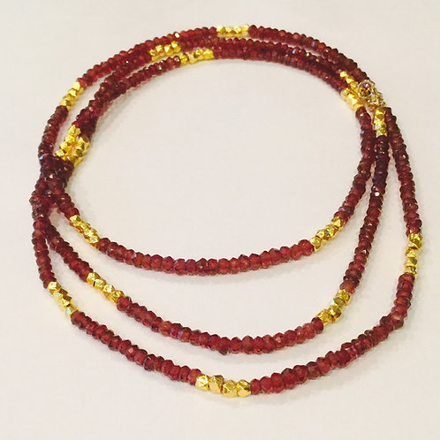 """Florence 32"""" Necklace with Garnet"""