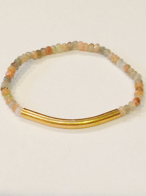 Moonstone and Vermeil Bar Bracelet