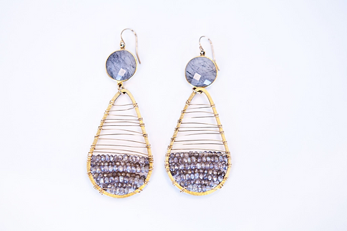 Stellar Plus Earring (Vermeil and Labradorite)
