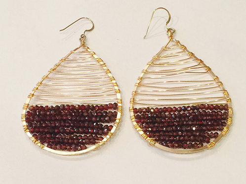 Florence Tracy Earrings with Mystic Garnet