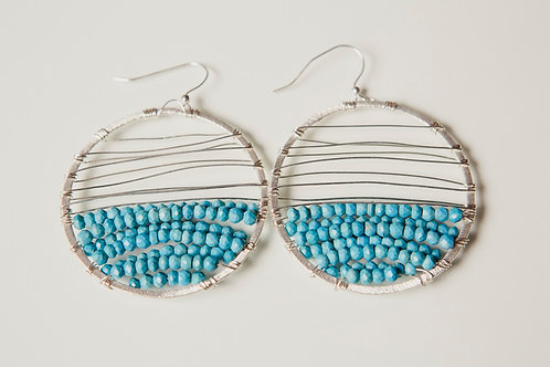 Melanie Earring with Turquoise and Silver
