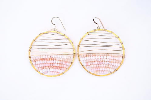 Melanie Earring (Vermeil and Peach Moonstone)