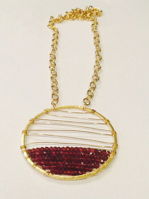 Florence Melanie Necklace with Vermeil and Garnet
