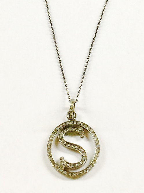 Pave Diamond Personalized Initial Necklace