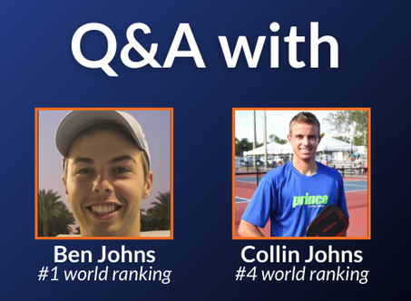 Q&A with the Johns Brothers: The World's Top-Ranked Pickleball Pros