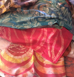 And the one of a kind silk batik scarves!!! Headed to the _madeinmauicountyfestival #kupuaemolokai#o