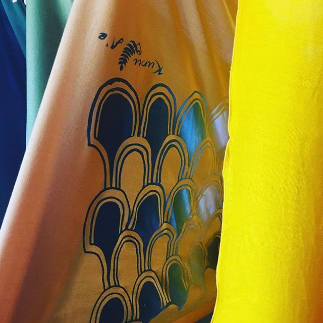 Hulu Manu! #printing#freshbatch#kupuaemolokai#pareo#oneofakind#wearableart#molokaimade#supportlocal#