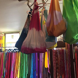 Beach bags!! #helemai#shopsmall#kupuaemolokai#pareobags#oneofakine#wearableart#pareo#silk#batik#scar