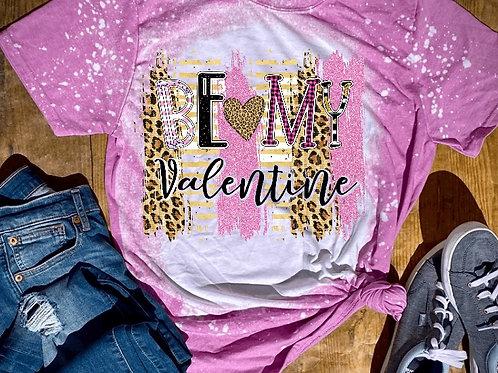 BLEACHED TEE Short or Long Sleeve Be My Valentine Pink Backsplash