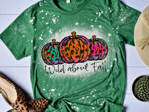 BLEACHED TEE Short or Long Sleeve Wild About Fall