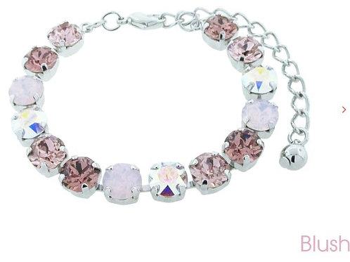 Swarovski Crystal Bracelet 8mm Stones Choose Your Setting Blush