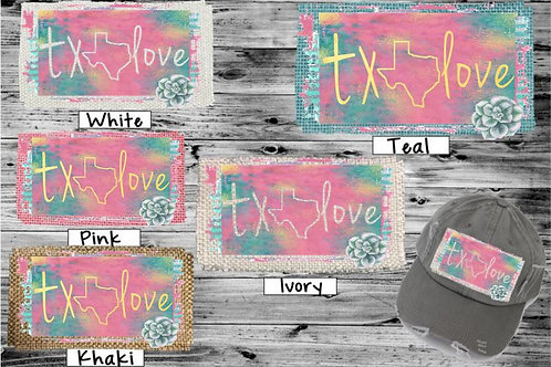 Sublimated Trucker Hats Many Colors Pink Turquoise Love State Outline ANY STATE
