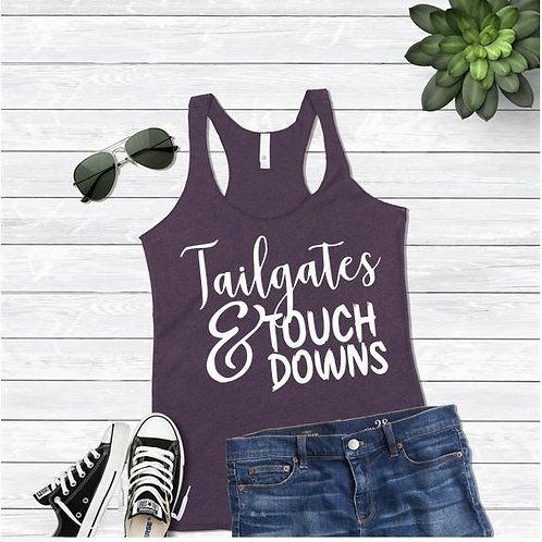 Tank Top GRAPHIC SHIRT Tailgates and Touchdowns