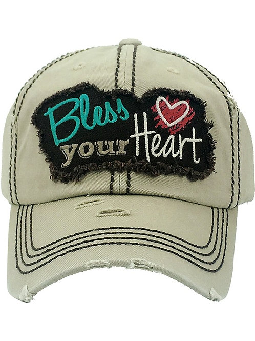 Caps Women's Hat Bless Your Heart Many Colors