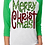 Thumbnail: CHRISTMAS RAGLAN SHIRT Merry Christ Mas Design Print