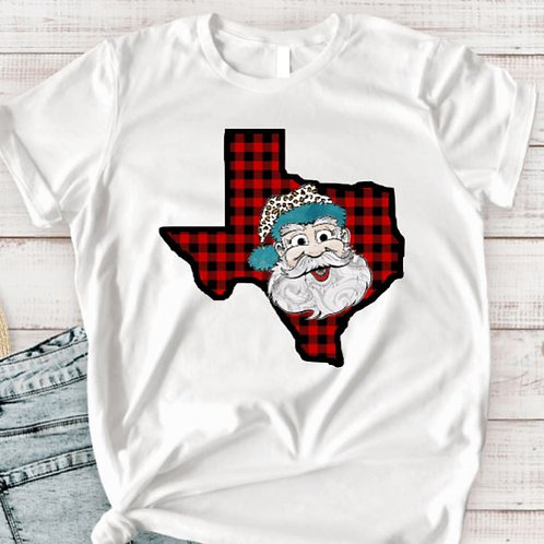 SUBLIMATED TRANSFER ONLY Christmas Plaid LG Santa ANY STATE