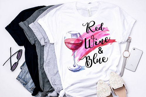 SUBLIMATED TEE Red Wine and Blue