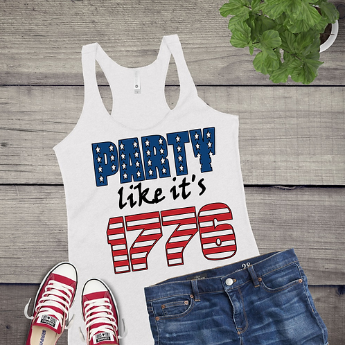 Tank Top GRAPHIC SHIRT Party Like its 1776