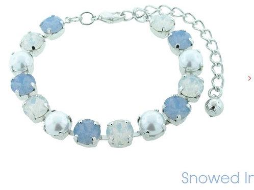 Swarovski Crystal Bracelet 8mm Stones Choose Your Setting Snowed In