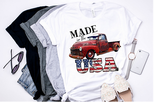 SUBLIMATED TEE Made in USA Truck