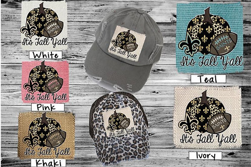 Sublimated Trucker Hats PRO Football It's Fall Y'all NAME YOUR TEAM