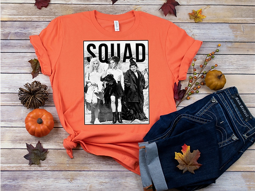 SUBLIMATED TEE Short or Long Sleeve Squad Witches