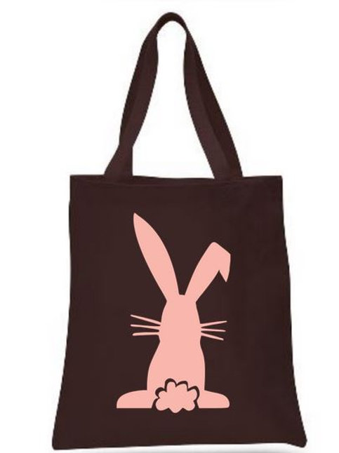 Easter Basket Tote Bags Canvas Colored Bags All Colors Style #4