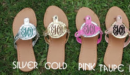 e24e52c043f97 Women's Sandals Monogrammed ON SALE!