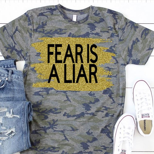 Camo TEE Short Sleeve Fear Is A Liar