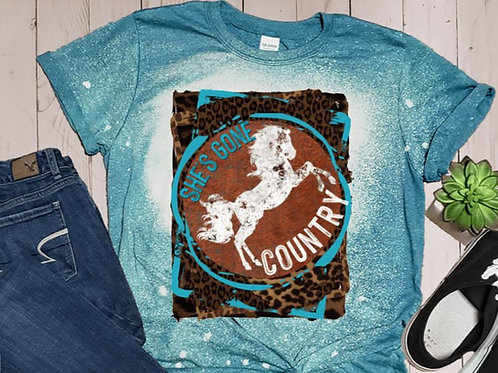 BLEACHED TEE Short Sleeve or Tank Shes Gone Country