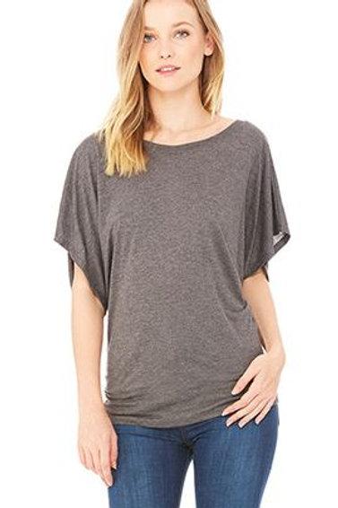 Bella & Canvas Women's Flowy Draped Sleeve Dolman Tee Size 2XL