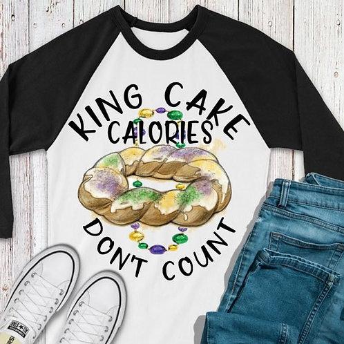 SUBLIMATED TEE RAGLAN LOVE Mardi Gras King Cake Calories