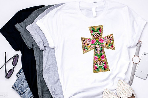 SUBLIMATED TRANSFER ONLY Cross Animal Floral