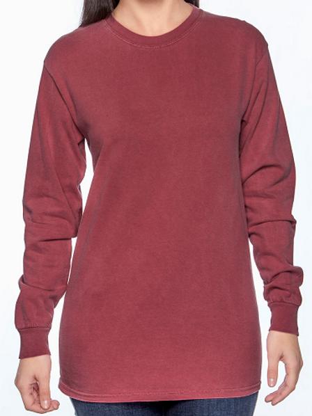 Comfort Colors Unisex Adult Long Sleeve Tee Crimson