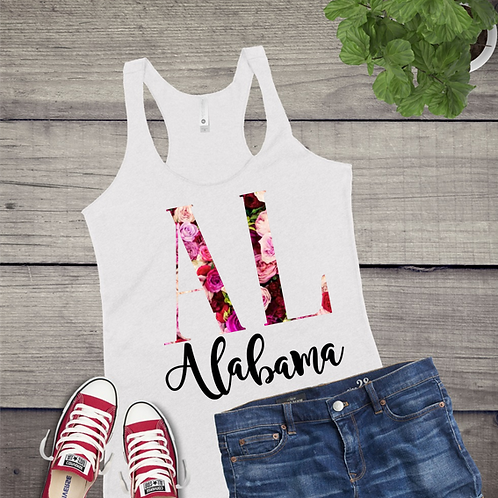 Tank Top STATE INITIAL GRAPHIC SUBLIMATED SHIRT Rose Pattern