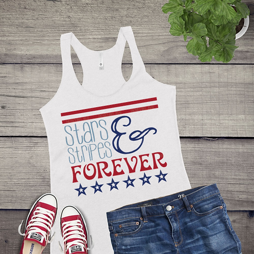 Tank Top GRAPHIC SHIRT Stars and Stripes Forever