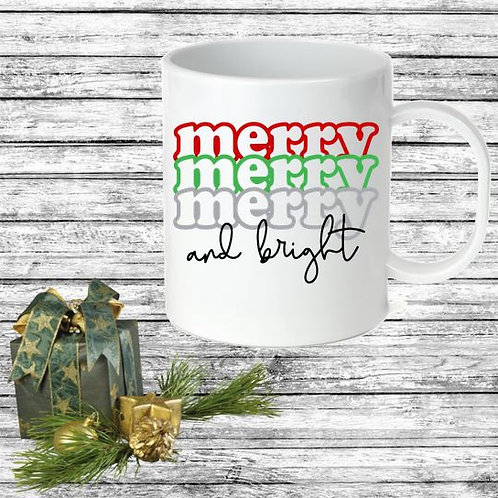 SUBLIMATED Coffee Mug - Merry and Bright
