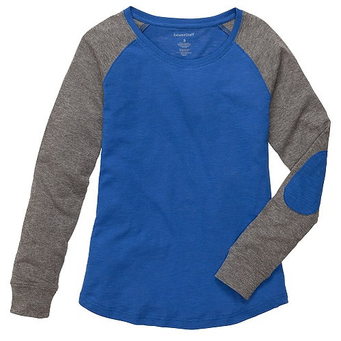 Preppy Patch Slub Tee Adult and Youth Sizes Royal/Granite