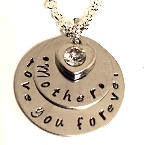 Mother Love You Forever Necklace or Bracelet