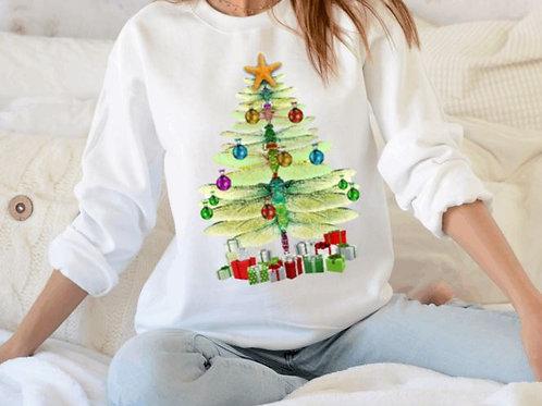 SUBLIMATED Sweatshirt Christmas Dragonfly