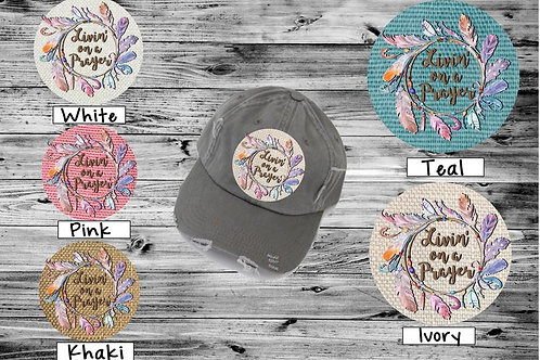 Sublimated Trucker Hats Many Colors Livin on a Prayer
