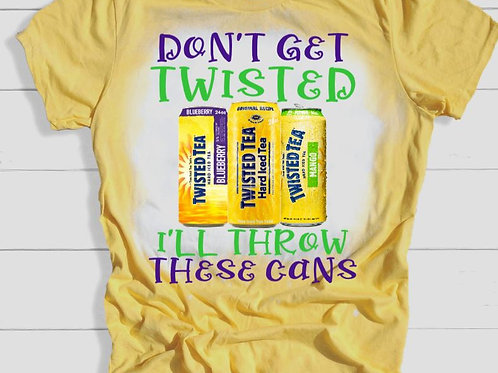 BLEACHED TEE Short or Long Sleeve Mardi Gras Don't Get Twisted 1