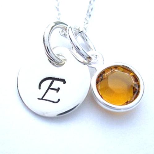 Personalized Name Tilt Heart Necklace or Bracelet